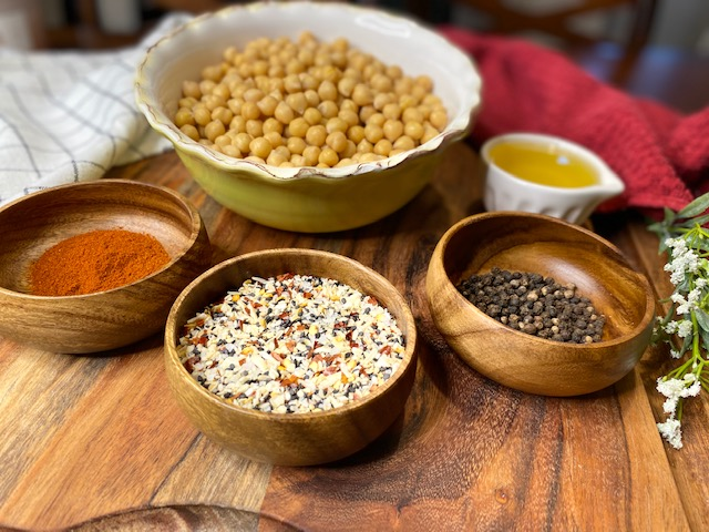 Chickpeas and spices