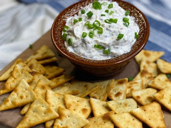 Lightened Up Everything Bagel Dip