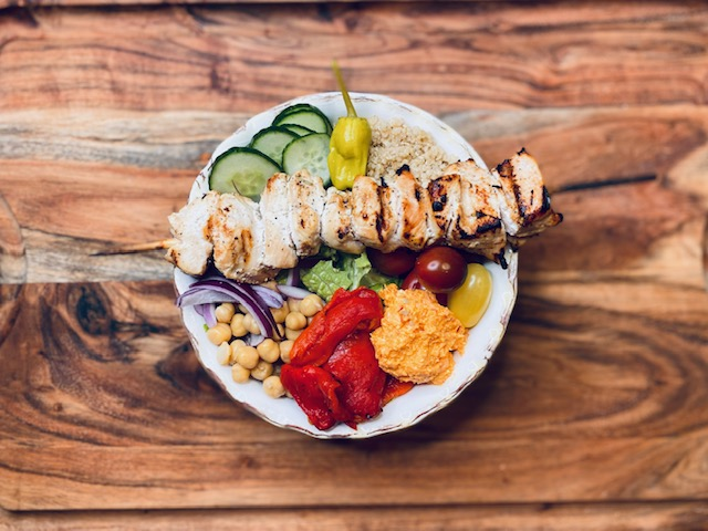 Mediterranean salad bowl