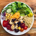 Healthy mediterranean bowl
