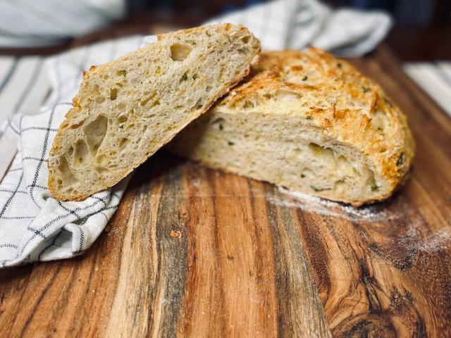 Sliced jalapeno cheddar bread