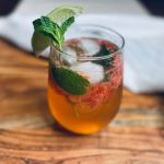 Strawberry mojito on board