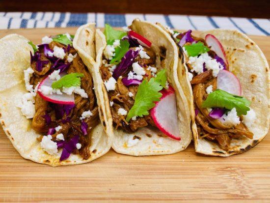 Slow Cooker Honey Pork Tacos