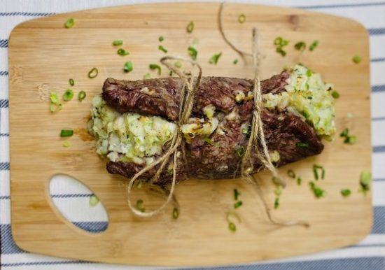 Colcannon Stuffed Flank Steak
