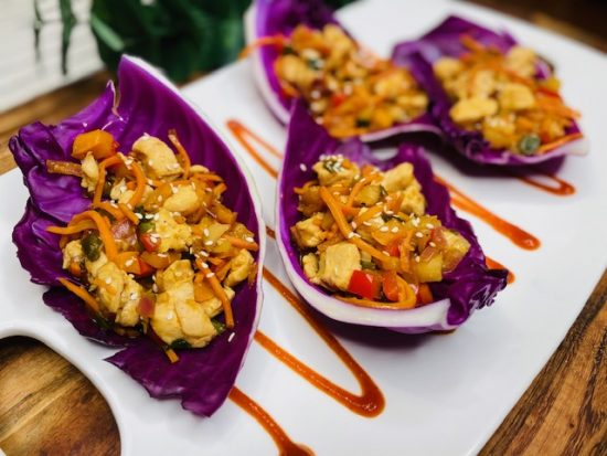 Crunchy Asian Chicken Cabbage Wrap