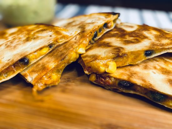 Chorizo Black Bean Quesadillas