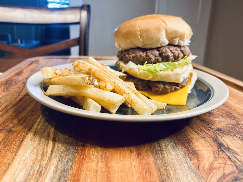 Our Version of the Big Mac with crispy fries