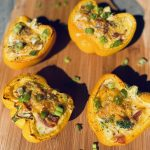 Quiched stuffed peppers