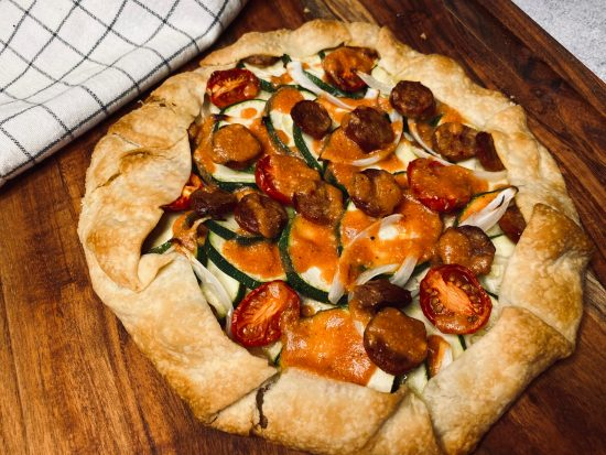 Zucchini and Sausage Galette