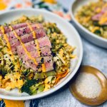 Cabbage salad with tuna and spicy mayo