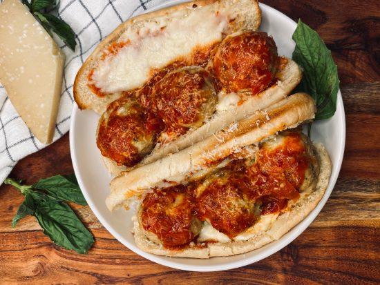 Chicken Parmesan Meatball Sub